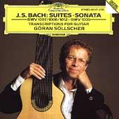J.S.Bach: Cello Suites No.1, No.2, No.6, Violin Sonata No.3 (4/1991) / Goeran Soellscher(g)