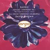 Barber: Adagio, Symphony no 1, etc / Zinman, Baltimore SO