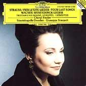 R.Strauss: Four Last Songs AV.150; Wagner: Wesendonck Lieder, etc / Cheryl Studer(S), Giuseppe Sinopoli(cond), Dresden Staatskapelle