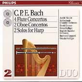 CPE Bach: 4 Flute Concertos, etc / Nicolet, Zinman, etc