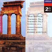 Beethoven: Symphonies 2, 4, 5 & 7 / Monteux, London SO