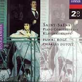 Saint-Saens: Piano Concertos 1-5 / Roge, Dutoit
