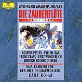 Mozart: Die Zauberflote  / Karl Bohm(cond), Berlin Philharmonic Orchestra, RIAS Chamber Choir, Robert Peters(S), Fritz Wunderlich(T), etc