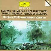 Smetana: Moldau; Sibelius: Finlandia, Pelleas et Melisande; Liszt: Les Preludes / Herbert von Karajan(cond), Berlin Philharmonic Orchestra