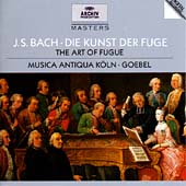J.S.Bach: The Art of Fugue -Contrapunctus BWV.1080, Cannon Alla Decima, In Contrapunto Alla Terza, etc / Reinhard Gobel(cond), Musica Antiqua Koln