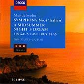 Eclipse - Mendelssohn: Symphony no.4 etc / Dohnanyi, Dutoit et al