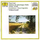 Liszt: Annees de Pelerinage - Italie (Excerpts) etc / Kempff
