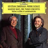 Ravel: Piano Concerto, Piano Concerto for the Left Hand, Valses Nobles et Sentimentales / Krystian Zimerman(p), Pierre Boulez(cond), Cleveland Orchestra