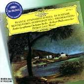 """Franck: Symphony in D minor; Mendelssohn: Symphony No.5 Op.107""""Reformation""""/  Lorin Maazel(cond), Berlin RSO, BPO"""