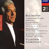 Beethoven: fovourite Piano Sonatas / Vladimir Ashkenazy