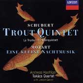Schubert: Trout Quintet;  Mozart / Takacs Quartet, Haefliger