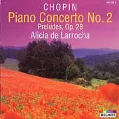 Chopin: Piano Cto. No. 2; Preludes / De Larrocha