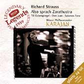 Strauss: Also sprach Zarathustra, etc / Karajan, Vienna PO