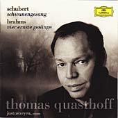 Schubert: Schwanengesang; Brahms: 4 Ernste Gesange