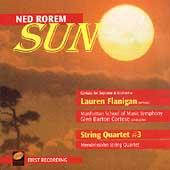 Rorem: Sun, String Quartet no 3 / Flanigan, Cortese, et al