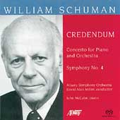 William Schuman: Credendum, Concerto for Piano, etc