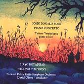 Robb: Piano Concerto;  Boyadjian: Second Symphony / Oberg