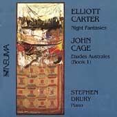 Carter: Night Fantasies;  Cage: Etudes Australes / Drury