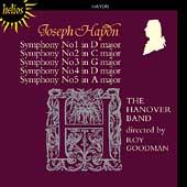 Haydn: Symphonies no 1-5 / Roy Goodman, Hanover Band