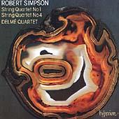 Simpson: String Quartets no 1 & 4 / Delme Quartet