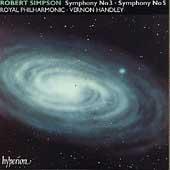 Simpson: Symphonies no 3 & 5 / Vernon Handley, Royal PO