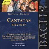 Edition Bachakademie Vol 18 - Cantatas BWV 54-57 / Rilling