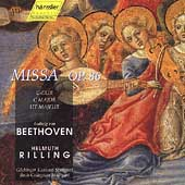 Beethoven: Mass in C Op.86 / Katherine van Kampen(S), Ingeborg Danz(A), Keith Lewis(T), Helmuth Rilling(cond), Gachinger Kantorei Stuttgart, etc