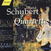 Schubert: Quartett D 87, etc / Verdi Quartett