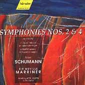 Schumann: Symphonies no 2 & 4 / Marriner, Academy St Martins