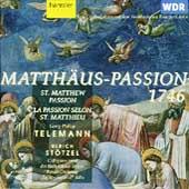 Telemann: Matthеs-Passion / Stotzel, Schlick, et al