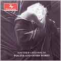 M.GREENBAUM:PSALTER & OTHER WORKS:CASTELNAU/ON THE RIVER SHADOWY GROUP/UNTIMELY OBSERVATIONS/ETC