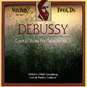 Debussy: Complete Works for Orchestra Vol 1 / Froment