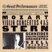Mozart: Violin Concertos 4 & 5 / Stern, Schneider, Szell
