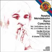 Mendelssohn: Piano Concertos 1 & 2, etc / Perahia, Marriner