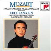 Mozart: Violin Concerto no 2, etc / Lin, Leppard, English CO