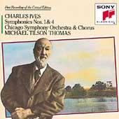 Ives: Symphonies no 1 & 4 / Thomas, Chicago SO & Chorus
