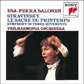 Stravinsky: Le sacre du printemps, etc / Salonen, et al