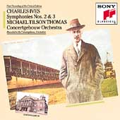 Ives: Symphonies nos 2 & 3 / Tilson Thomas, Concertgebouw