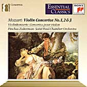 Mozart: Violin Concertos 1, 2 & 3 / Zukerman, St. Paul CO