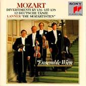 Mozart: Divertimenti K 136, 137, 138, etc / Ensemble Wien