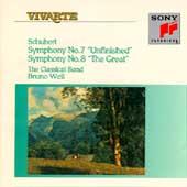 Schubert: Symphonies nos 8 & 9 / Bruno Weil, Classical Band