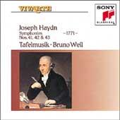 Haydn: Symphonies nos 41, 42 & 43 / Weil, Tafelmusik