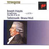 Haydn: Symphonies nos 44, 51 & 52 / Weil, Tafelmusik