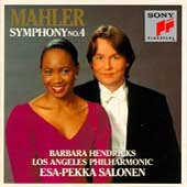 Mahler: Symphony no 4 / Salonen, Hendricks, Los Angeles PO