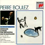 Schoenberg: Serenade, 5 Pieces, Ode / Pierre Boulez