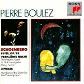 Schoenberg: Suite, Verklaerte Nacht, etc / Pierre Boulez