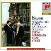 Brahms: Violin Sonatas Opp 78, 100 & 108 / Bronfman, Stern