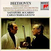 Beethoven: Violin Concerto, Romances / Accardo, Giulini