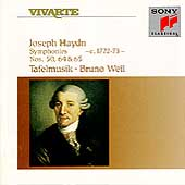 Haydn: Symphonies 50, 64 & 65 / Bruno Weil, Tafelmusik