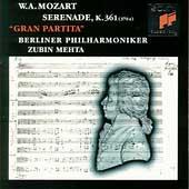 "Mozart: Serenade K 361 ""Gran Partita"" / Mehta, Berlin PO"